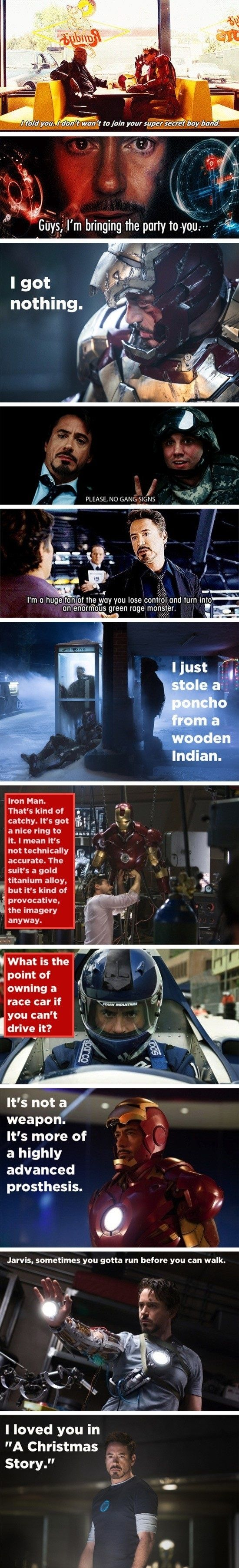 Tony Stark's witty remarks // funny pictures - funny photos - funny images - funny pics - funny quotes - #lol #humor #funnypictures