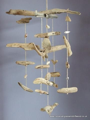 Driftwood mobile for baby boy. Maybe add some color though