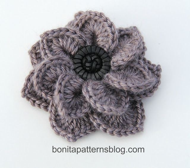 Easy Crochet Flower Patterns For Hats : 25+ best ideas about Crochet Flower Patterns on Pinterest ...