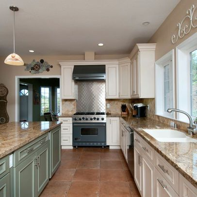 Saltillo Tile Floor Kitchen   265 Terra Cotta Tile Floor Kitchen  Traditional Kitchen Design Photos