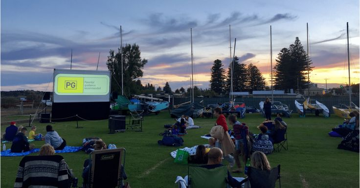 Fleurieu Community Foundation's outdoor cinema fundraiser at the Victor Harbor Yacht Club, screening A Dog's Purpose.