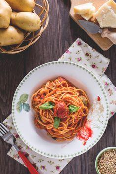 spaghetti con le polpettine vegetariane!