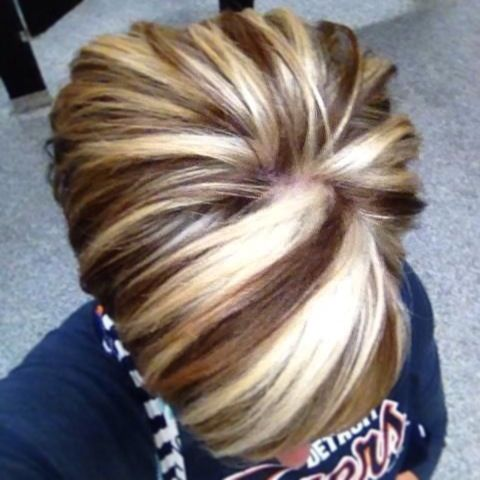Chunky Blonde Highlights courtesy of Kristy Gardner @ Studio FX A Paul Mitchell Focus Salon