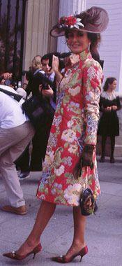 Nati Abascal en la boda de su sobrina Patricia en Sevilla en octubre de 2003.