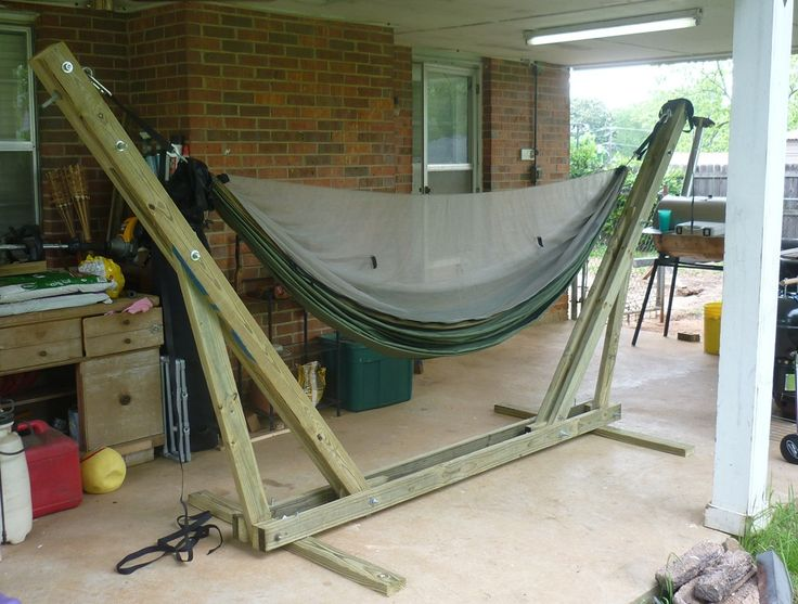Hammock Stand Designs : Wood hammock stand designs woodworking projects plans