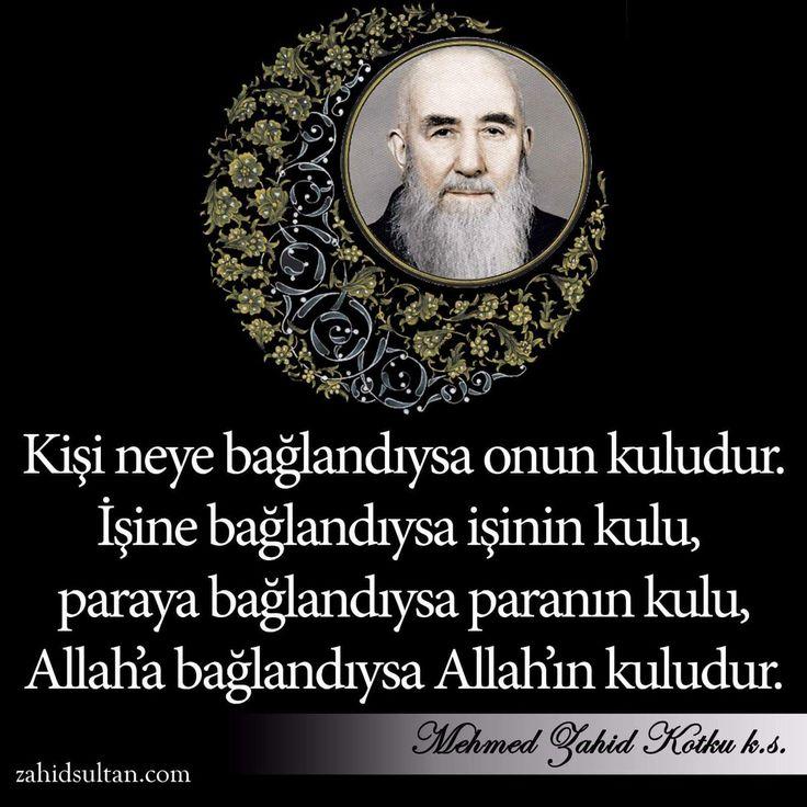 Kişi neye bağlandıysa onun kuludur! #MehmedZahidKotku