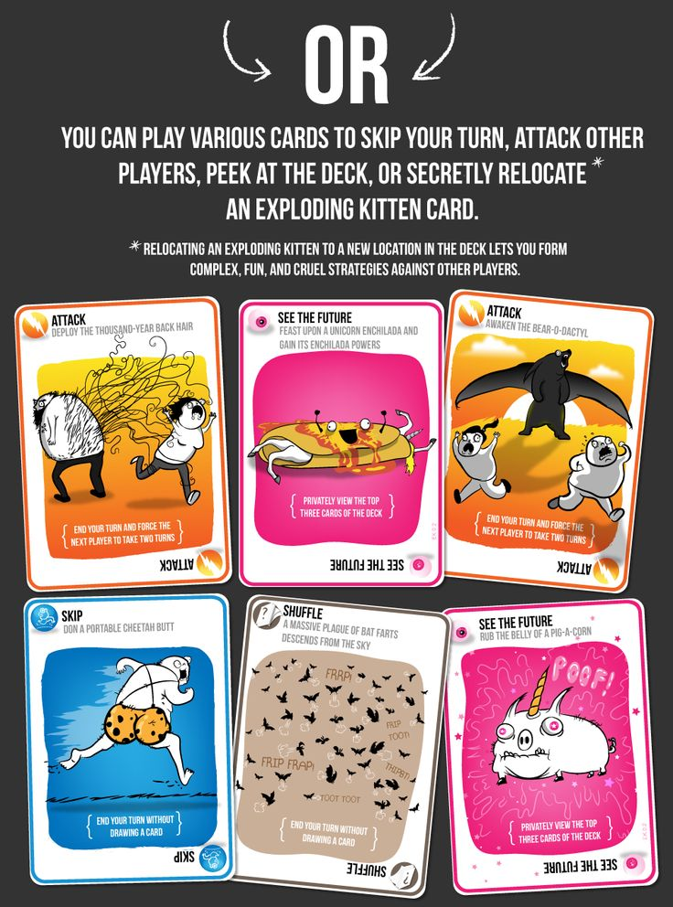 Exploding Kitten game by the oatmeal