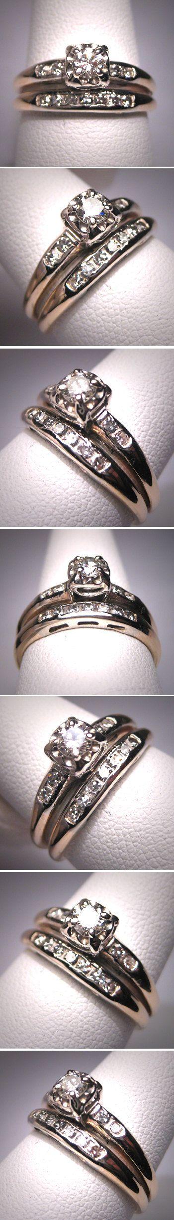 Memaw's??? Antique Diamond Wedding Ring Set Vintage Art by AawsombleiJewelry, $1850.00