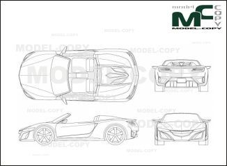 Acura NSX Roadster '2014 - drawing