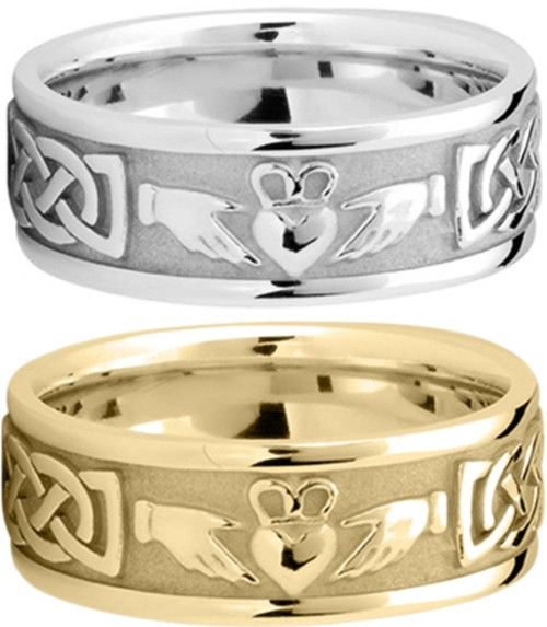 Claddagh Celtic Wedding Rings maybe we're both Irish heritage.....???
