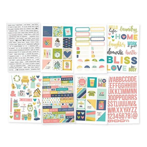 """Simple Stories - Domestic Bliss - 4x6"""" Stickers (8 sheets)"""