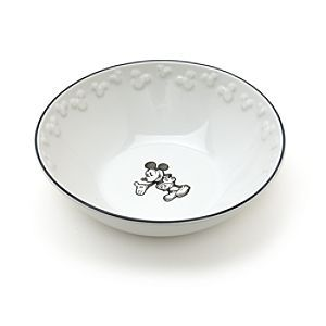 Disney Mickey Mouse Bowl | Disney StoreMickey Mouse Bowl - Make any meal a real Disney occasion with our delightful stoneware Mickey Mouse bowl. The design includes Mickey in a classic pose, an embossed outer rim of Mickey silhouettes and stylish black edging.