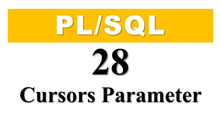 PL/SQL tutorial 28: Cursor Parameter In Oracle Database By Manish Sharma