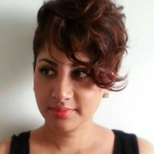 Short Hair Curly Undercut Rainbow Of Hair Pinterest