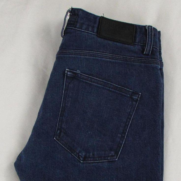 Men Burton Durable Goods Skinny Jeans Low Rise Dark Wash Stretch sz 34 X 32 EUC #Burton #SlimSkinny