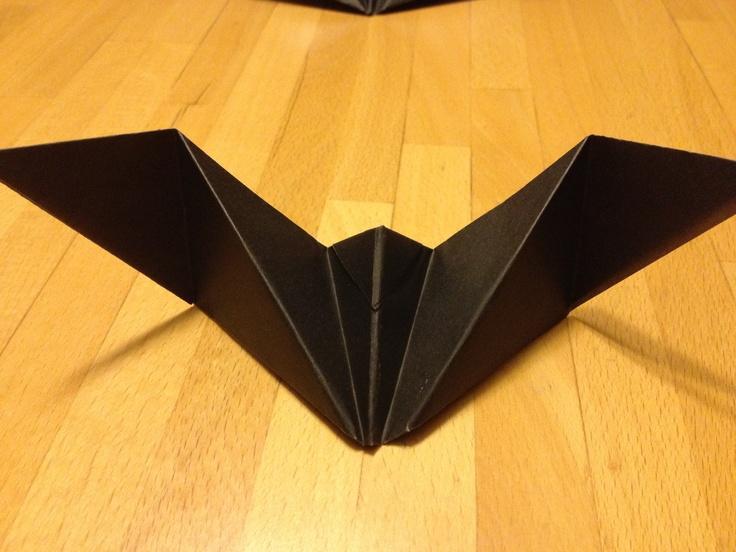 origami bat party favor table decoration invite