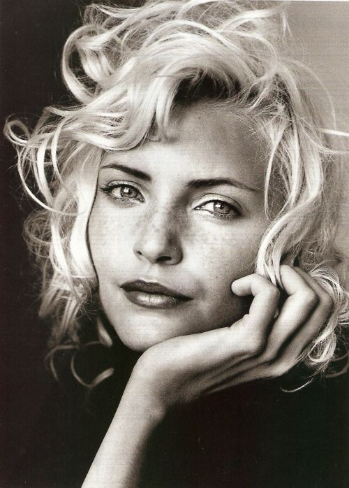 """nadja auermann by irving penn, """"Sensitive people faced with the prospect of a camera portrait put on a face they think is one they would like to show the world. ...Very often what lies behind the facade is rare and more wonderful than the subject knows or dares to believe."""""""