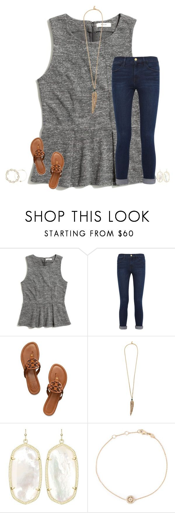 """"" by secfashion13 ❤ liked on Polyvore featuring Madewell, Frame Denim, Tory Burch, Roberto Cavalli, Kendra Scott and Astley Clarke"