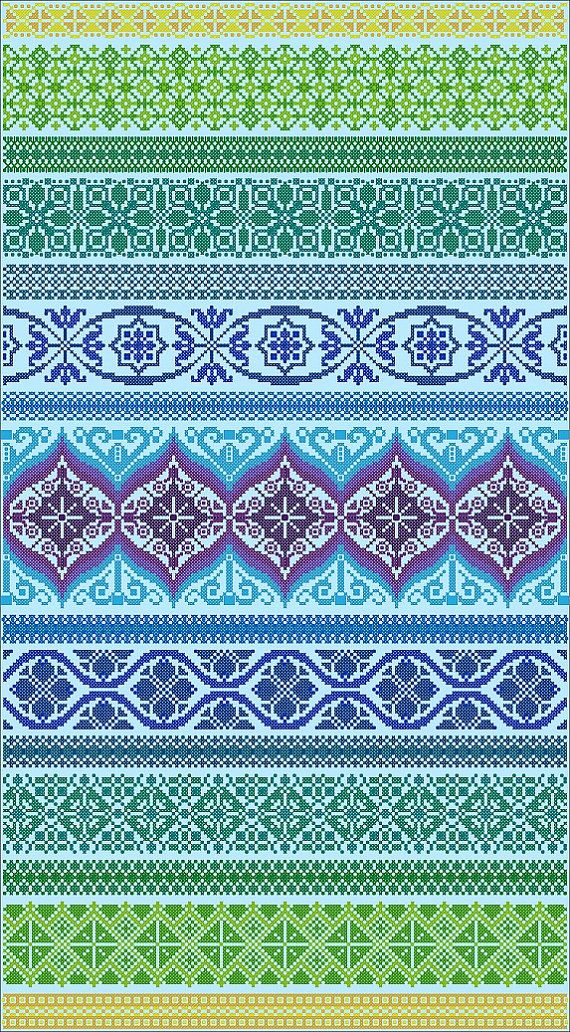 Peacock Band Sampler Cross Stitch Version by NorthernExpressions1