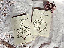Papiernictvo - vianočné pohľadnice z drôtu...shabby chic-vintage... - 7360159_