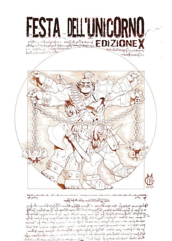 Disegno per la Festa dell'Unicorno 2014 by GiuseppeMatteoni