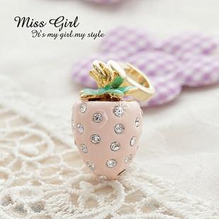 Swarovski Crystal Gift Fruit Strawberry Designer Charms Ornaments Keychains | eBay $11.99