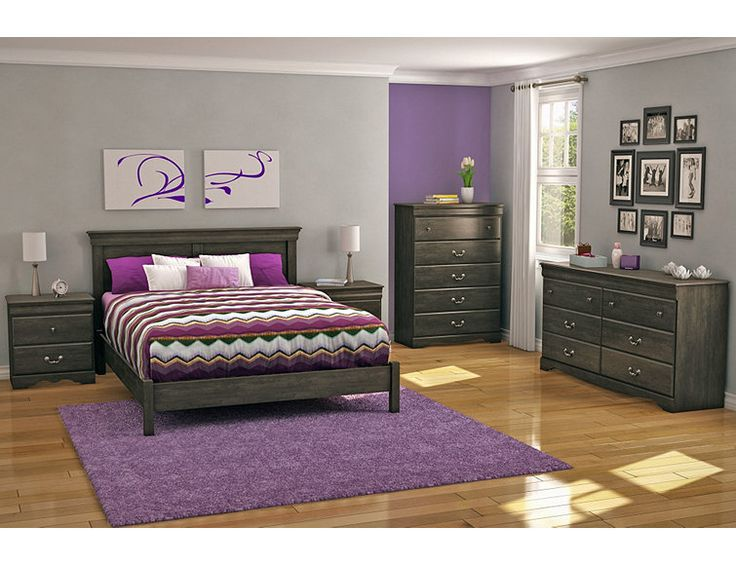 south shore eastbourne bedroom collection - ebony | fingerhut
