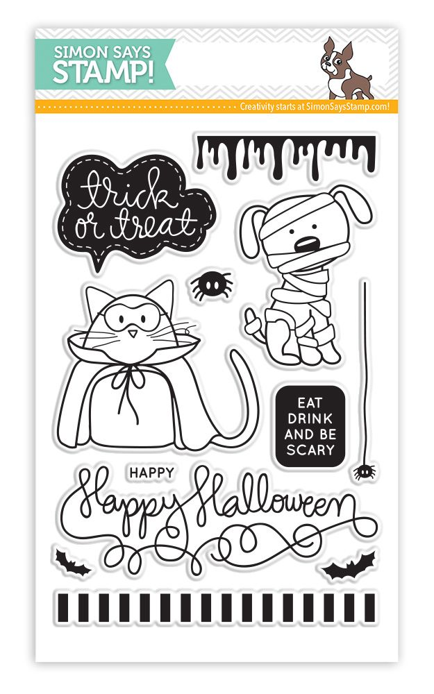 Simon Says Clear Stamps TRICK OR TREAT sss101444 Stamptember