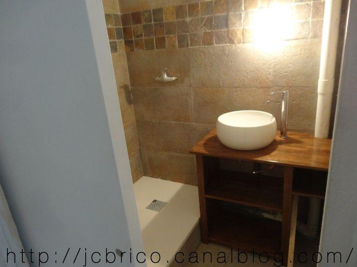 Cr ation d 39 un meuble sous vasque sur mesure salle de for Creation meuble salle de bain