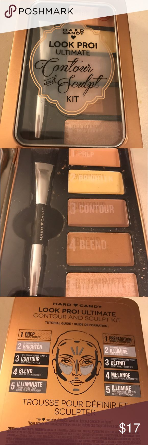 Hard candy contour and sculpt kit Hard candy contour/ sculpt palette. Prep, brighten, contour, blend, and illuminate. Look like a pro. Thanks for checking out my products. Hard Candy Makeup