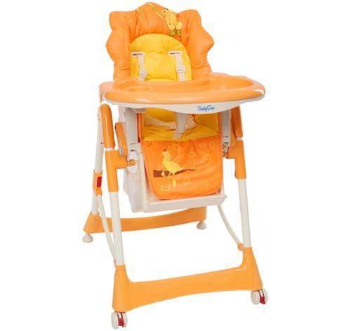 krzesełko do karmienia MAŁPKA pomarańczowa/high chair MONKEY orange