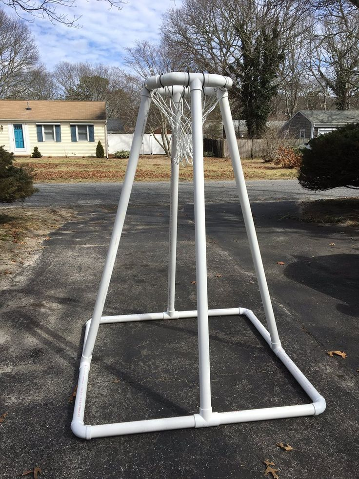 "@Physedreid - Made my own goal out of heavy duty 2"" PVC. This thing is rugged and ready for PE abuse."