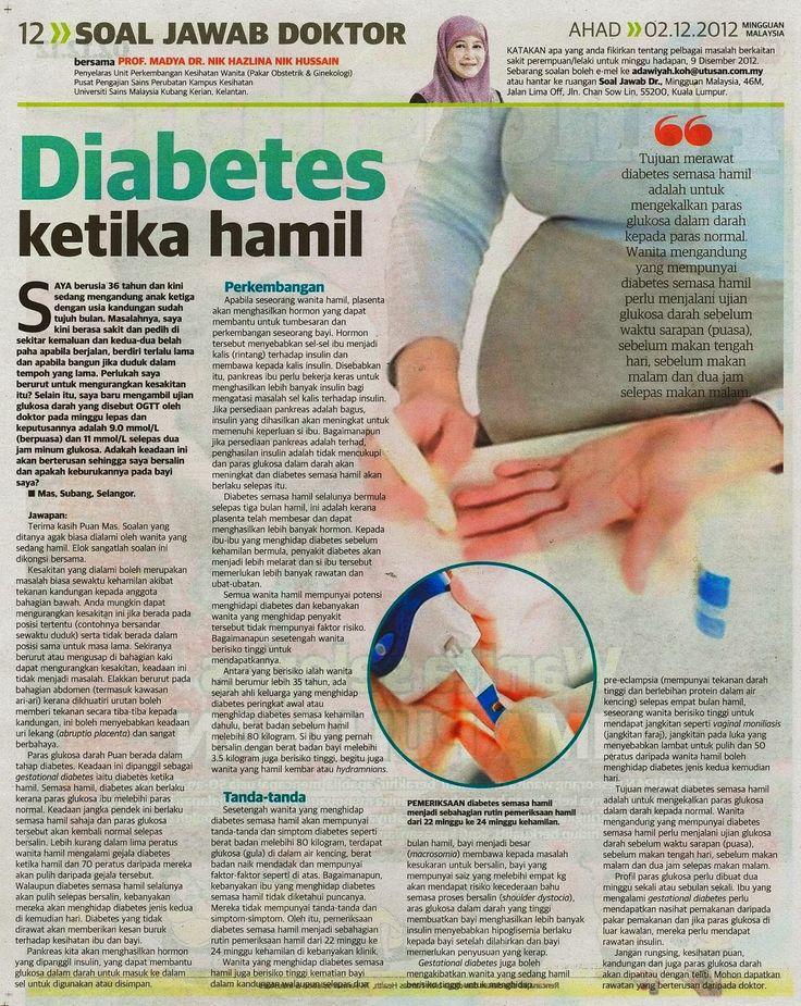 Tujuan merawat Diabetis semasa hamil adalah untuk mengekalkan paras glukosa dalam darah kepada paras normal.Wanita mengandung yang mempunyai diabetis semasa hamil perlu menjalani ujian glukosa dalam darah sebelum waktu sarapan (puasa) sblm mkn tgh hari, sblm mkn malam, dan dua jam slps mkn malam.