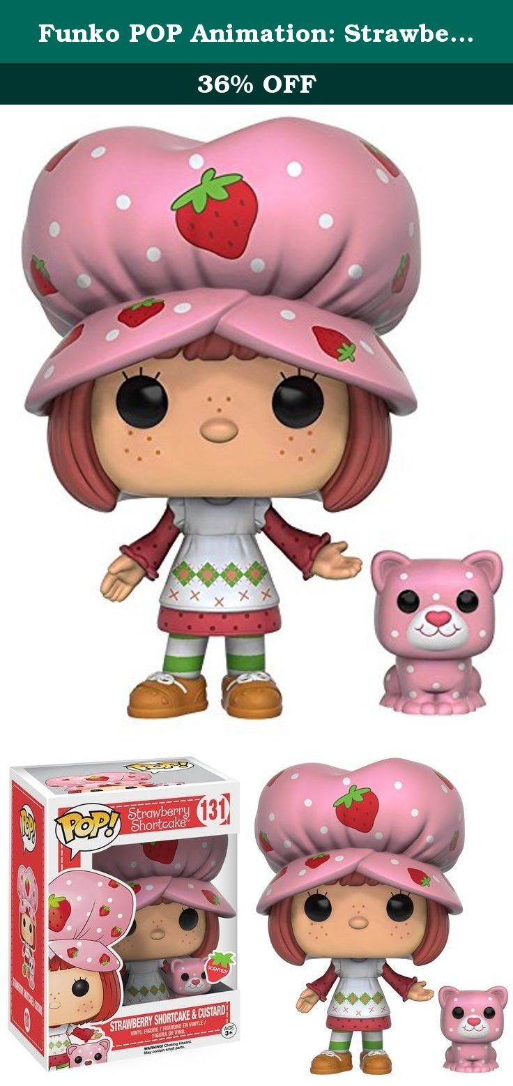 Funko POP Animation: Strawberry Shortcake - Strawberry Shortcake & Custard Action Figure. From Strawberry Shortcake, Strawberry Shortcake & Custard, as a stylized POP vinyl from Funko! Figure stands 3 3/4 inches and comes in a window display box. Check out the other Strawberry Shortcake figures from Funko! Collect them all!.