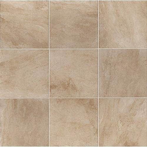 "Daltile SV66P Severino - 6"" x 6"" Square Multi-Surface Tile - Polished Travertine (vento breeze)"