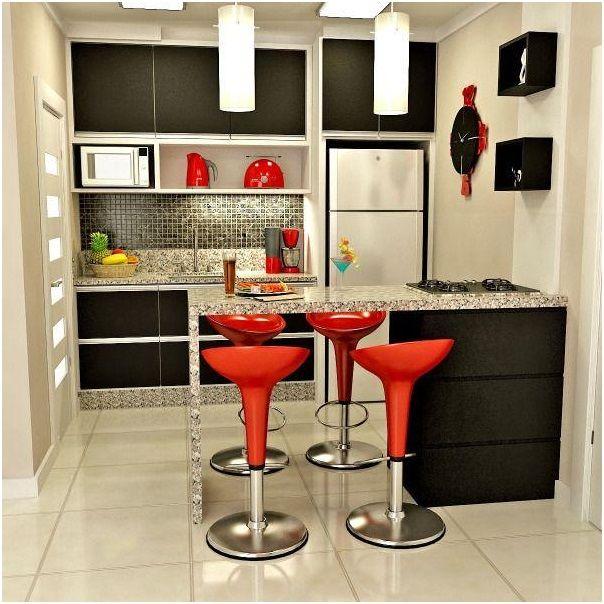 cozinha americana pequena simples