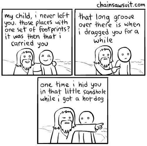 Footprints in the Sand - 9 hilariously different versions