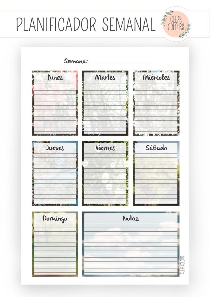 Light colors: Weekly Planner Free Printable (vertical)