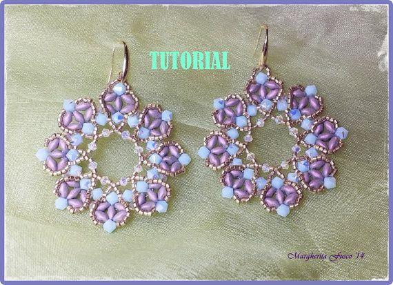 Regina di Cuori earring tutorial. How to make a pair by 75marghe75, $8.00