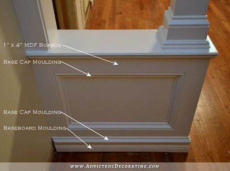 Pony Walls With Columns - FINISHED!! - Addicted 2 Decorating®