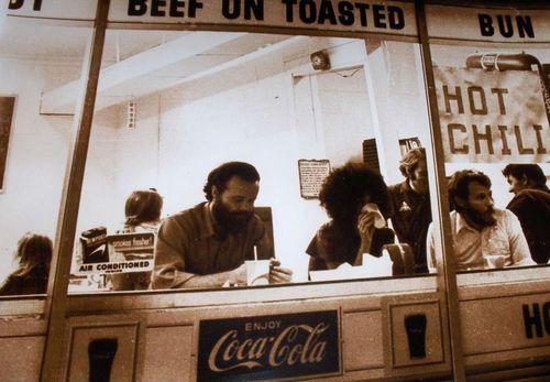 theroamer:    Garth Hudson, Abbie Hoffman, Levon Helm. Kerhonkson, NY, c.1971.