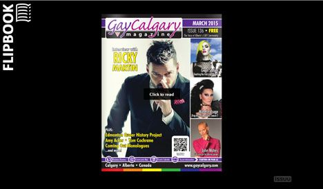 GayCalgary® Magazine - Weekly Online Update - Thursday March 19, 2015