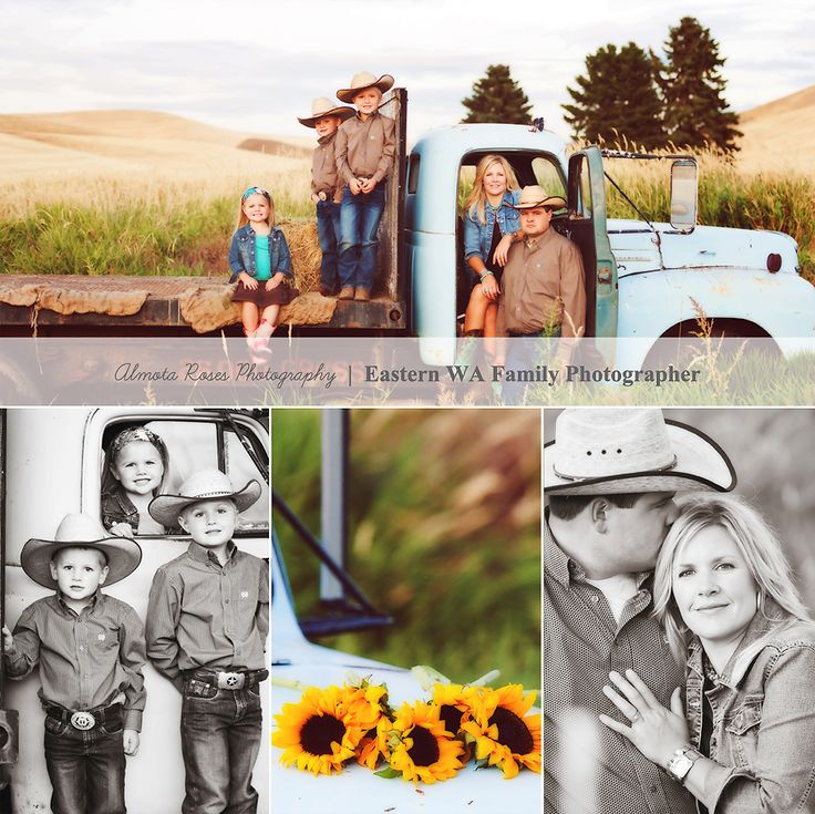 Country Family Photo Session Ideas | Props | Prop | Child Photography | Clothing Inspiration| Fashion | Pose Idea | Poses | Siblings | Kids | Truck
