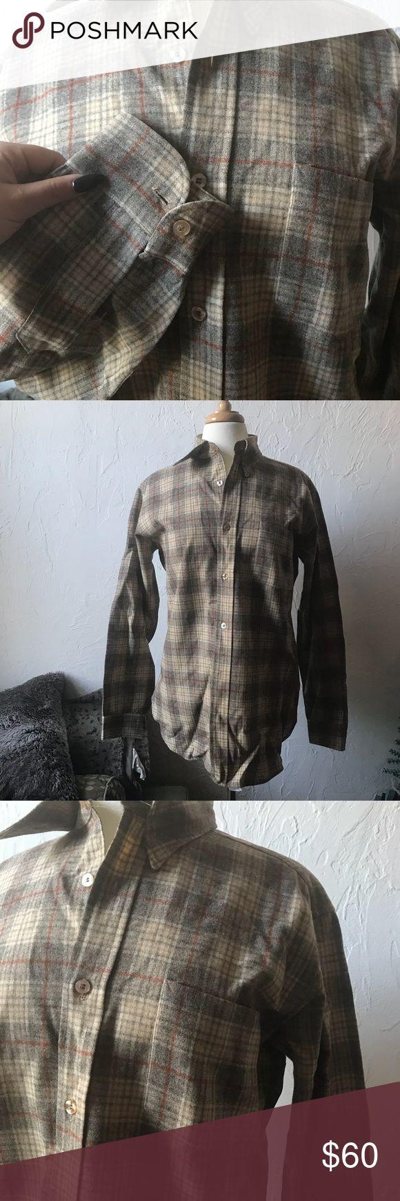 Vintage Pendleton Wool Plaid Shirt Awesome mint condition light colored vintage Pendleton wool plaid shirt Pendleton Shirts