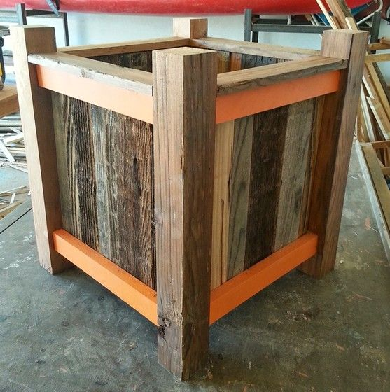 Reclaimed wood, raised planter box, Frames by Frythawfur, Phoenix, Arizona - 25 Best Planter Boxes Images On Pinterest