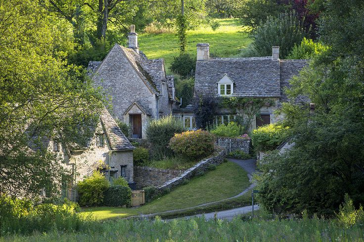 Arlington Row - homes built for the local weavers, Bibury, Glocestershire, England by Brian Jannsen Photography