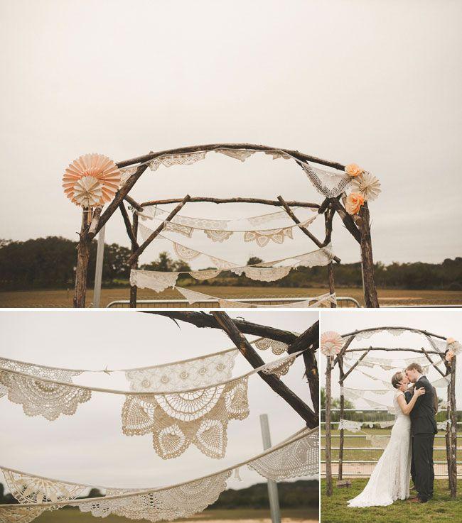 Diy Outdoor Wedding Altar: 131 Best Boda En Color Blanco ♥ Images On Pinterest