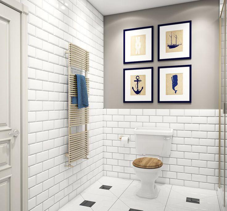 ванная комната в дизайне квартиры 68 кв. м