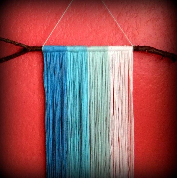 Best 25 yarn wall art ideas on pinterest yarn wall for Yarn wall art