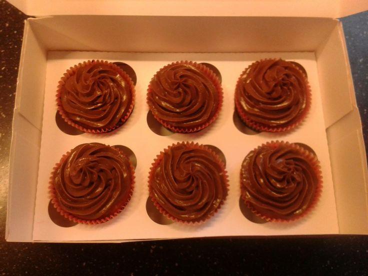 Banaan - Chocolade cupcakes